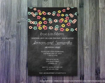 Love is in Bloom Baby Shower Invitation   BAS11