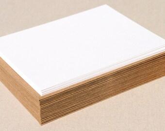Blank Invitation Set with Brown Bag Kraft Envelopes / Set of 20 Flat A7 Size Cards and Envelopes / DIY Invitation Set
