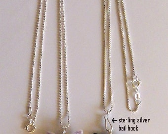 JEWELRY UPGRADES:  add a Sterling silver chain, bail, and/or hook, or a steel cable to your glass