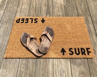 Surf / Sleep™ Door Mat (doormat) - beach cottage décor