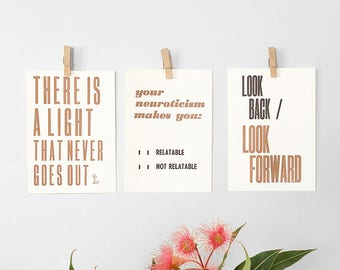 Letterpress Postcard Mini Print – Letterpress Hand Pulled Print, Motivational Art, Vintage Typography, Affirmation Print