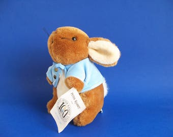Vintage Peter Rabbit Stuffed Animal Toy by Eden Beatrix Potter 1990s Toy