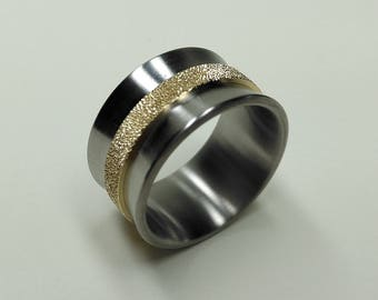 Titanium Corset Ring with Stardust Belt