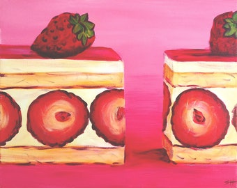 "An original painting, ""YumYum"" by Sherri Hepler, acrylic on canvas"