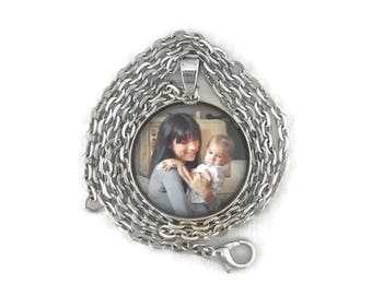 Photo Jewelry Necklace Picture Necklace Locket Photo Gifts Picture Necklace Photo Pendant Charm Photo Necklace Memorial Jewelry Gift For Her