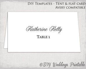 template for tent cards