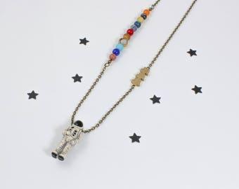 Galaxy Necklace, Astronaut Necklace, Solar System Necklace, Planet Necklace, Cosmic Jewelry, Astrology Jewelry, Astronomy Necklace, Geeky