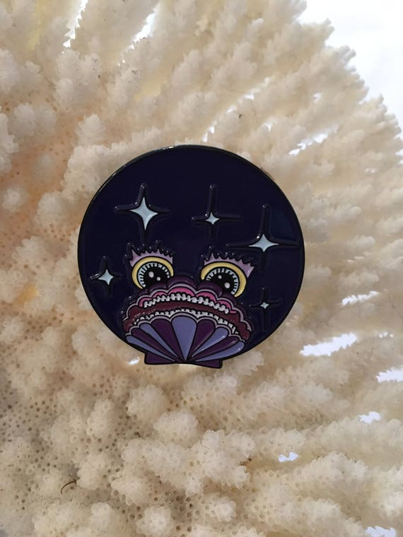 Sir Wiz(dom)  Pin// Collaboration with MARSANNE BRANDS// Pin Collection// Nautical// Whimsy// Enamel Pin// Shell Pin// Crystal Cluster Pin