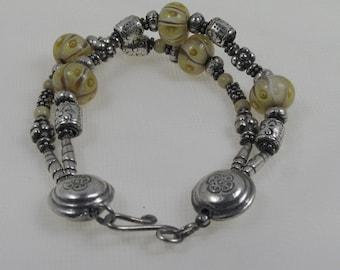 Silver & Lampwork Bracelet