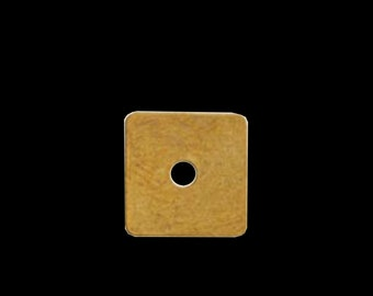 200 pcs 7 mm raw brass square tag raw brass charms ,raw brass findings 552R-36