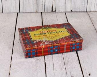Vintage metal box, Retro shortbread tin, Box for sweets, Vintage scotch shortbread box, old cookie box, cookie box, metal cookie box