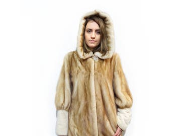 Hooded Coat,Winter Fur Coat,Clothes for Cold F350