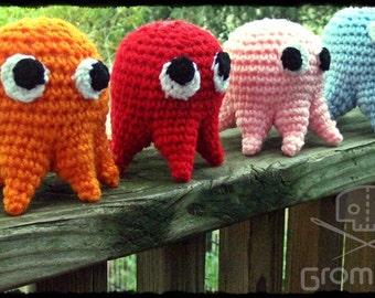 Pacman Ghostie Plush- Lot of 4