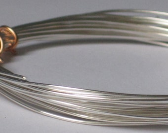 Non-Tarnish Silver Color Jewelry Wire -- 22 gauge   (Qty 10 ft)    65-116