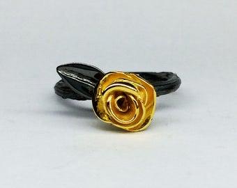 twig ring branch ring gold twig rose  engagement ring- rhodium plated ring leaf engagement ring