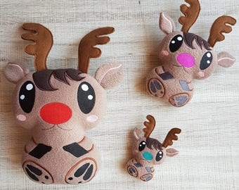 Christmas Reindeer ITH Embroidery Pattern
