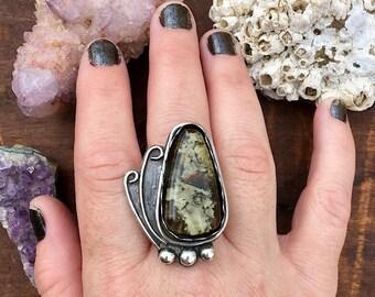 Lichen Ring, Simple, Elegant Statement Ring