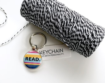 Read keychain. Key chain for book lovers. Bookish gifts. for readers