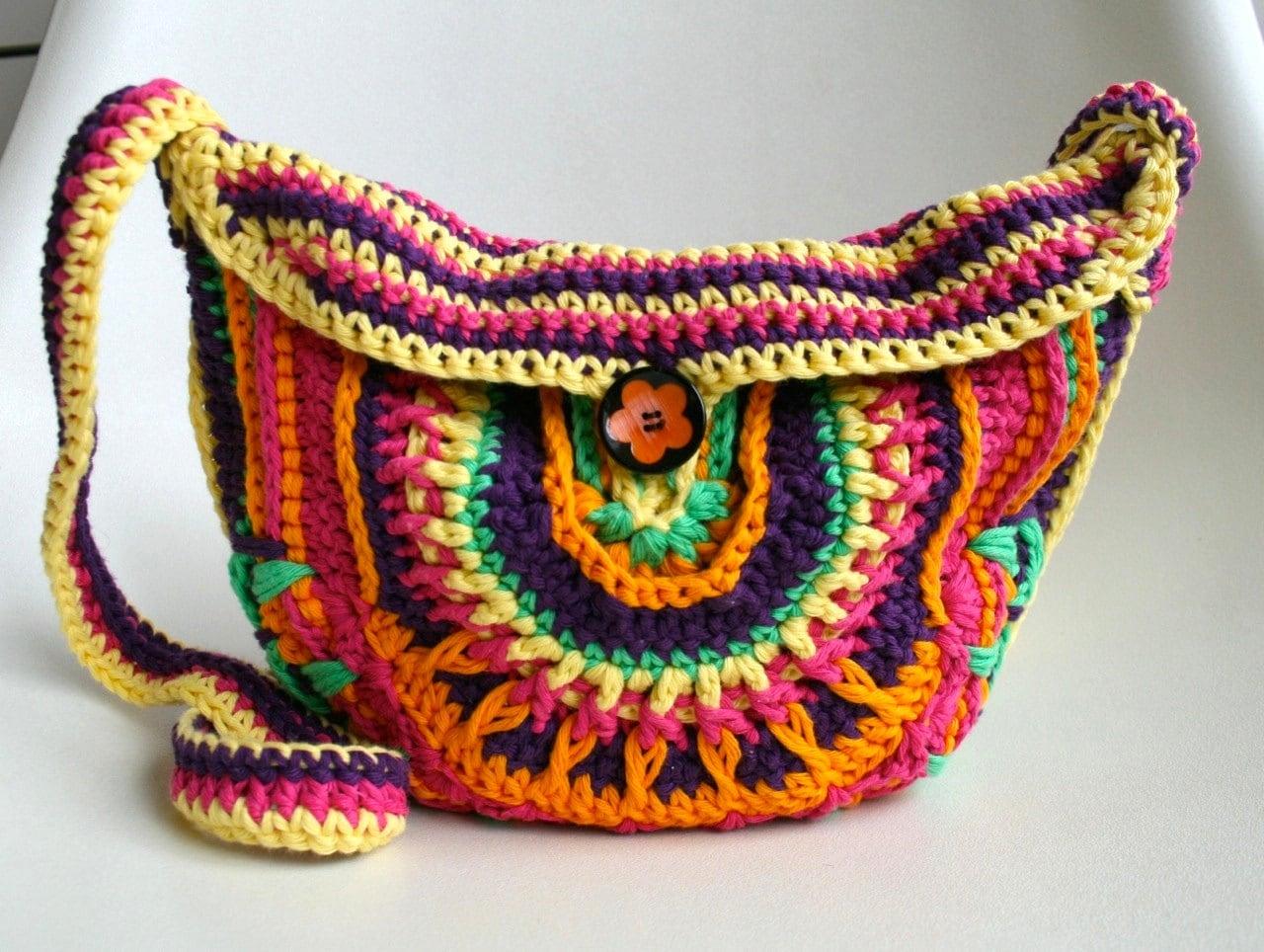 Crochet patterns, 3 crochet purse patterns sale, crochet mandala ...