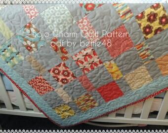 Boho Charm Pack Quilt Pattern Tutorial w photos, pdf