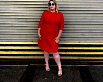 perfect mod showstopper 60s plus size dress - SIZE 22/24