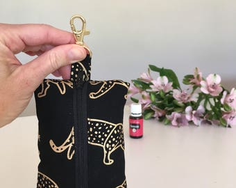 Leopard Essential Oil Keyring - Essential Oil Pouch - Essential Oil Purse