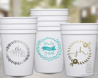Personalized Wedding Party Cups