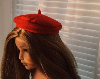 Cherry red beret
