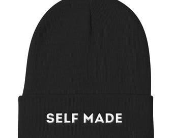 Self Made Hat, Self Made Beanie, Entrepreneur Gift,  Hipster Gift, Slouchy Beanie, Beanie Hat, Mens Beanie, Hipster Gift, Boss Lady Gift
