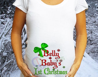 USA Cutoff Dec 19th Belly Baby's 1st Christmas Maternity Shirt Christmas Maternity shirt Christmas Pregnancy Shirt Christmas Maternity Shirt