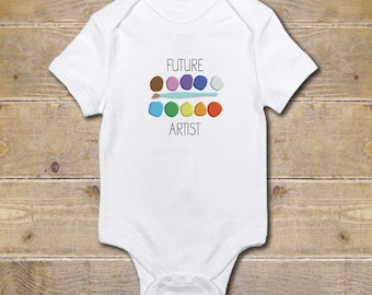 Artist's Baby, Artist, Painter, Baby Shower Gift, Baby Onesie, New Baby Gift, Baby Girl, Baby Boy, Gender Neutral, Art Lover, Future Artist