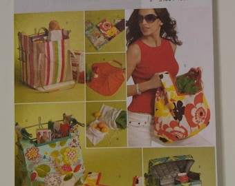 Six Different Bags in One Pattern  Butterick 5338  UNCUT