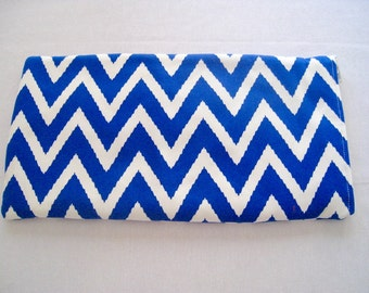 Blue Chevron - Apple or Samsung Wireless Keyboard Sleeve - Padded and Zipper Closure - Ready to Ship