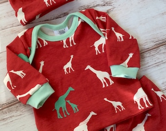 Fall baby coming home outfit - baby outfit for fall -newborn outfit - baby boy clothes for fall - organic baby outfit  for fall