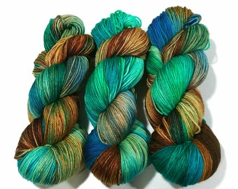 Algae: Dyed to Order Hand Dyed Yarn - Suitable for knitting and crochet