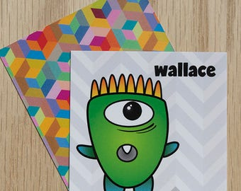 "Replacement Card ""Wallace"" — Oh Those Monsters: Memory Game"
