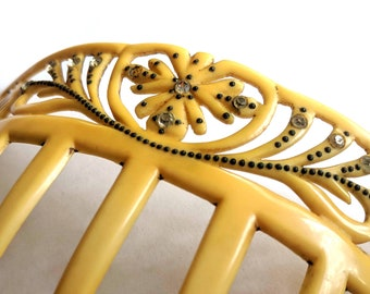 French Ivory (Celluloid) Antique Hair Comb