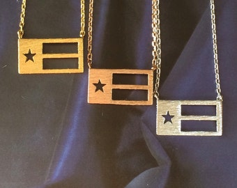 Texas Flag Necklace