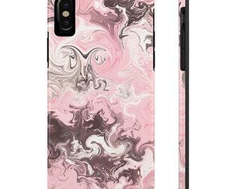 Pink N Black Swirls  Case Mate Tough Phone Cases