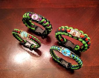 TMNT Inspired Paracord Bracelet or Keychain