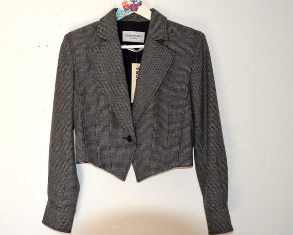 small SAIT LAURENT Museum Rive amp; cashmere Gaushe wool Rare 70s Collectible Sold YVES quality blazer size tEq6Iw