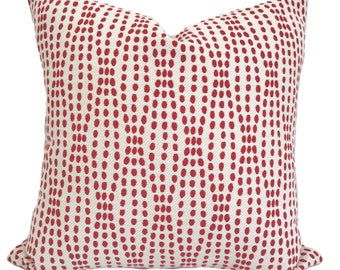 Red pillow cover, Red throw pillow, Red decorative pillow, Red white pillow, Red accent pillow, Lumbar pillow, Shams, 13 sizes available