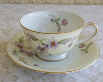 Silver Poppy by Sango Japan Cup and Saucer
