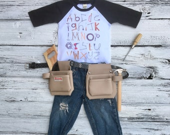 Alphabet Tools Shirt Cute Shirt for Boys Cute Shirt for Girls