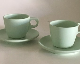 Boontonware 2 cups and 2 saucers
