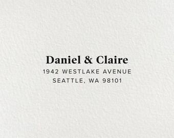 Self Inking Address Stamp, Custom Return Address Stamp, Personalized Stamp, Wedding Stamp, Modern Stamp, Housewarming Gift - Style #103