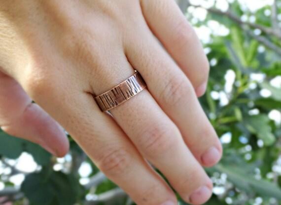 wood grain ring mixed metal wedding ring mens wedding band