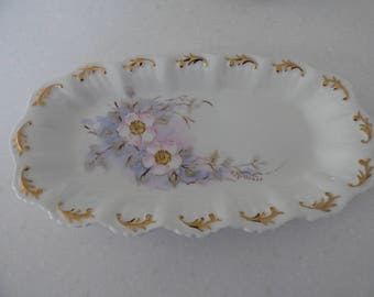 Hand-painted Porcelain Dish - P Millross