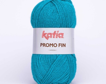 PROMOTIONAL end KATIA 50 grs collar 592 Turquoise yarn