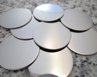 "7/8"" (22MM) Round Disc Stamping Blanks, 22g Stainless Steel - AWESOME Silver Alternative R07"